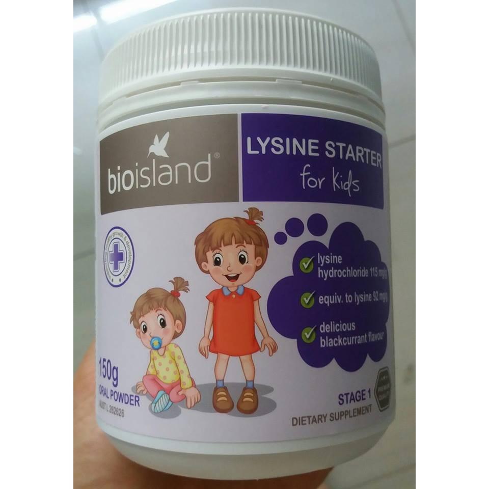Bột Bioisland LYSINE Starter For Kids 150g