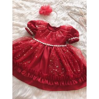 Váy Đầm Công Chúa Cho Bé Gái Vải Voan Ánh Kim Sang Trọng Dự Tiệc, Sinh Nhật, Thôi Nôi SSA01-40