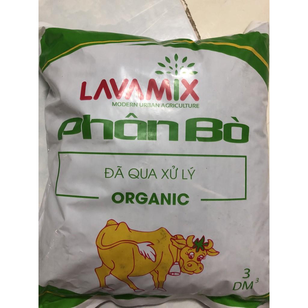 Phân bò hữu cơ đã qua xử lý túi 3dm3