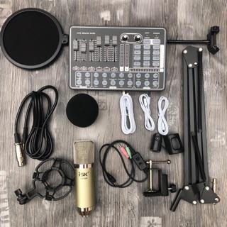 Combo mic thu âm AT350 sound card h9 dây live stream MA2 chân màng- bộ livestream