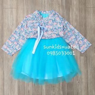 Sét 2 chi tiết váy HANBUK voan xanh