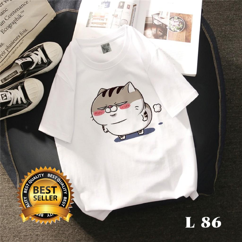 Áo Phông Áo Thun Đẹp Giá Rẻ - Mèo Béo Ami bụng bự - BST02