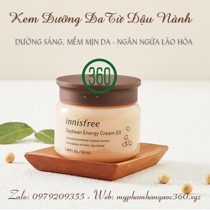 [mẫu 2019] Kem Dưỡng Từ Đậu Nành Lên Men Innisfree Soybean Energy Cream Ex. 50ml