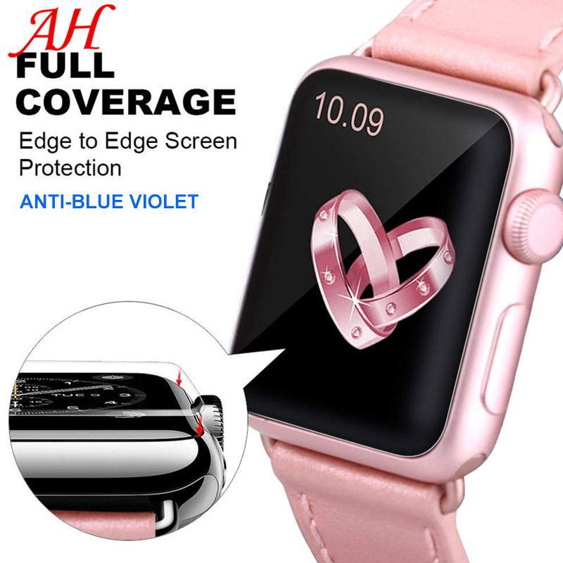 🔥 40/44MM New Anti-Blue Violet Smart 2pcs TPU Screen Protector Protective IWatch Series 4 Smart Accessories Jewelry