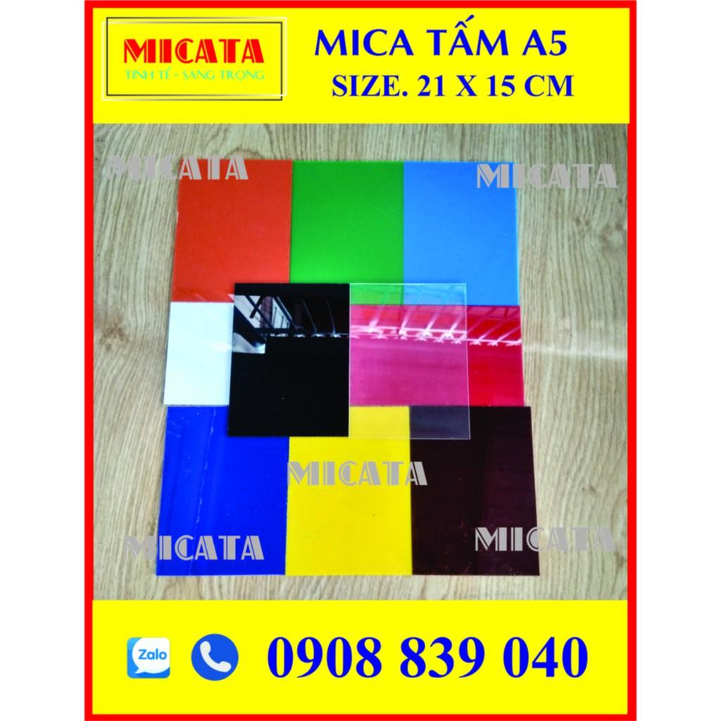 MICA TẤM A5 15 X21CM DÀY 2mm