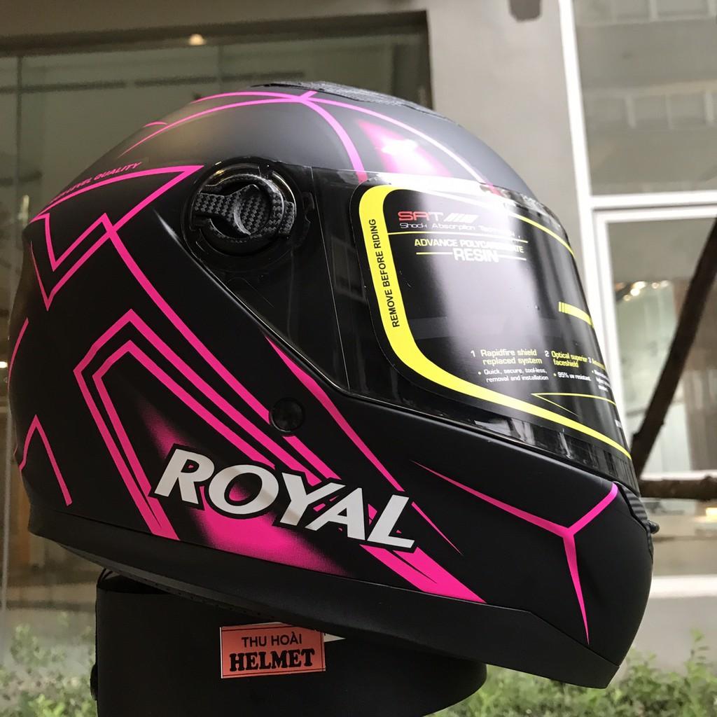 Mũ bảo hiểm Royal M136 V25 hồng (Kính khói)