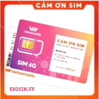 Sim Vietnamobile Gói Cảm Ơn 30gb/tháng Miễn phí tháng đầu