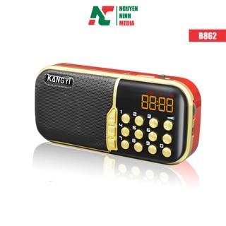 [Mã ELFLASH5 giảm 20K đơn 50K] Loa nghe nhạc KangYi B862 chạy USB, Thẻ nhớ tích hợp Đài FM, Đèn LED chiếu sáng ban đêm