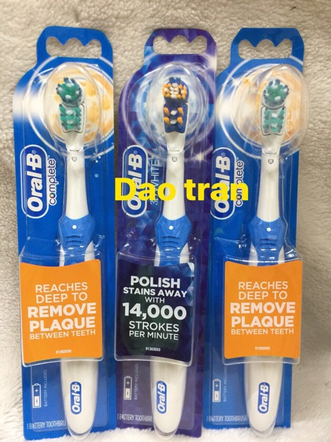 [Mã 77FMCGSALE1 giảm 10% đơn 250K] Bàn chải pin Oral -B từ Mỹ 🇺🇸