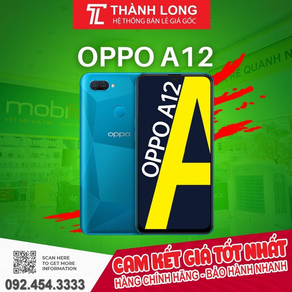 GIÁ KHO] Điện thoại OPPO A12 (3GB/32GB) - Hàng Chính Hãng