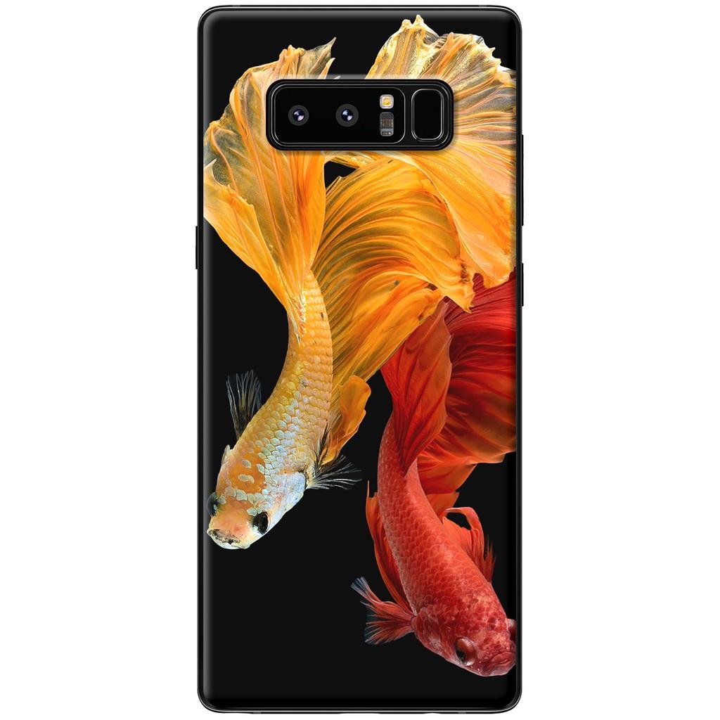 Ốp lưng Samsung Note 8 - Nhựa dẻo cá betta đỏ vàng