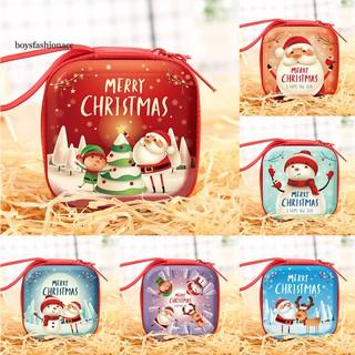 Túi đựng tiền xu hình ông già Noel , người tuyết , tuần lộc thumbnail