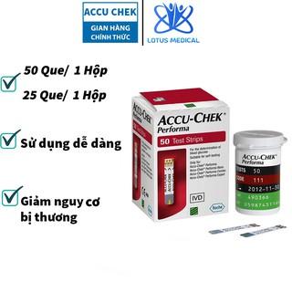 Hộp 25 50 Que thử đường huyết ACCU CHEK PERFOMA - Que thử tiểu đường Accu Chek Perfoma thumbnail