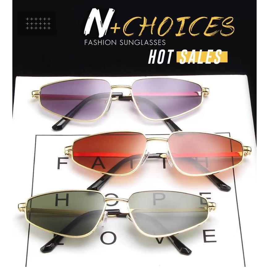 Retro triangle cat's Eye Sunglasses metal Harajuku Sunglasses