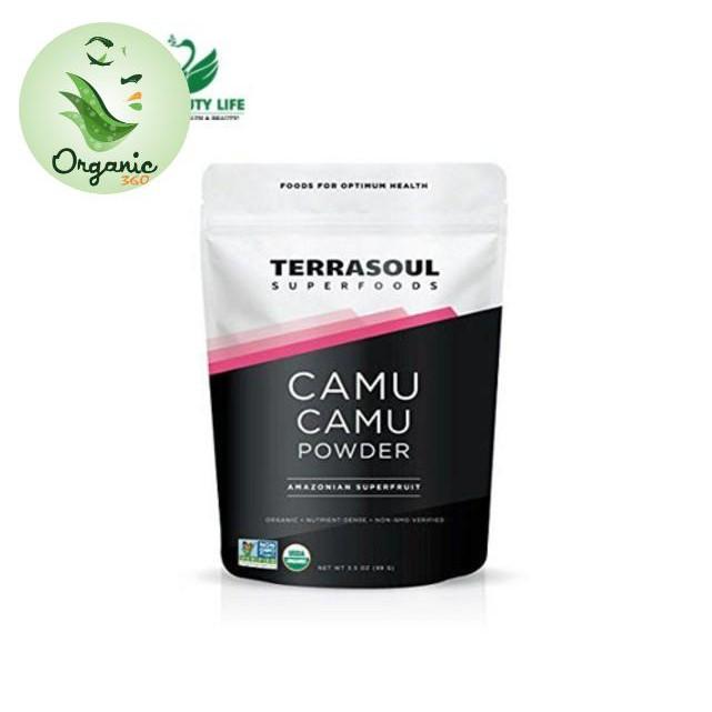BỘT CAMU CAMU HỮU CƠ  TERRASOUL SUPERFOODS 99G BỘT CAMU CAMU HỮU CƠ  TERRASOUL SUPERFOODS 99G