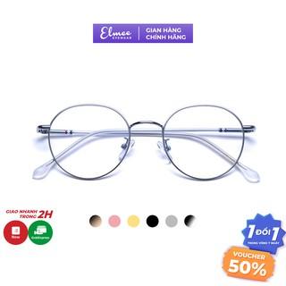 Gọng kính cận mắt tròn kim loại Elmee phụ kiện thời trang nữ siêu xinh D29120 thumbnail