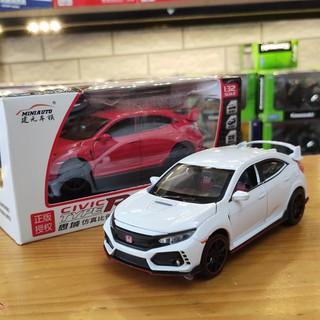 Mô hình trưng bày xe Honda CivicType R tỉ lệ 1:32 hãng MiniAuto màu trắng