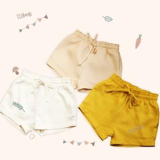 Quần shorts linen bé gái Ecobambi
