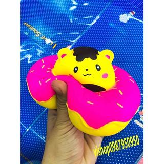 ĐỒ CHƠI SQUISHY bánh kem mặt gấu vàng mã WNW5
