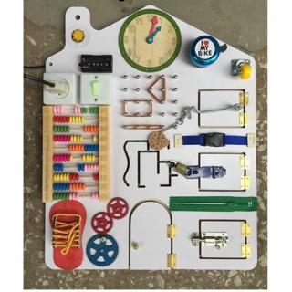 Bảng busy board- bảng kỹ năng cho bé