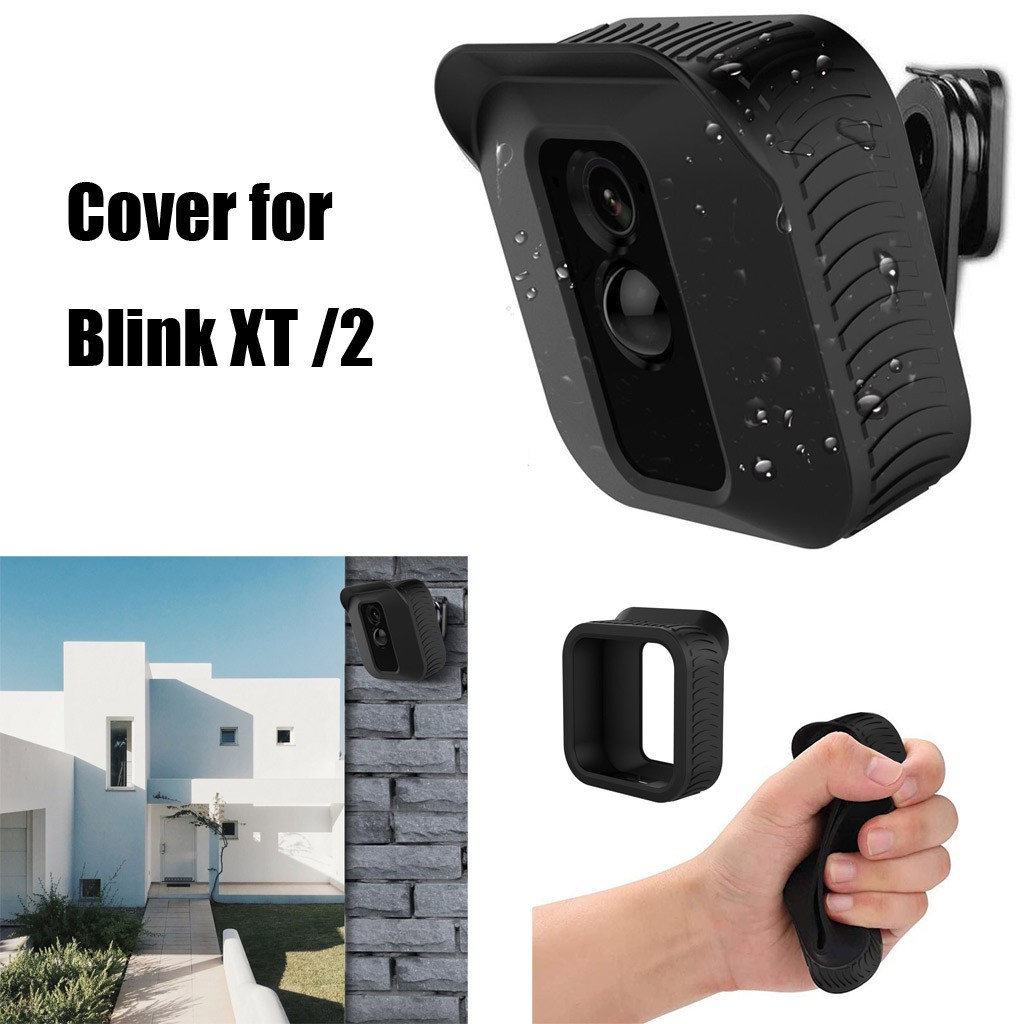 Black 360 Degree Adjustable Wall Mount & Cover for Blink XT Home Security Camera
