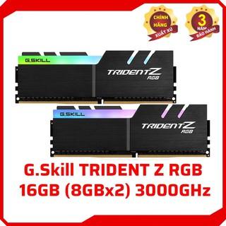 [Mã 208ELSALE hoàn 7% đơn 300K] RAM G.Skill TRIDENT Z RGB - 16GB (8GBx2) DDR4 3000GHz - F4-3000C16D-16GTZR thumbnail