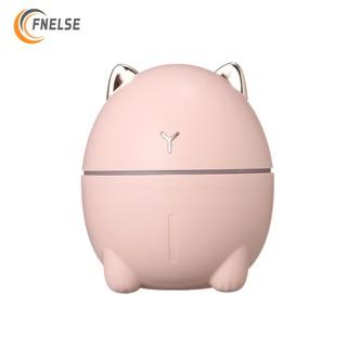 Fnelse Máy phun sương tạo độ ẩm thiết kế hình mèo dễ thương có đèn led tiện dụng