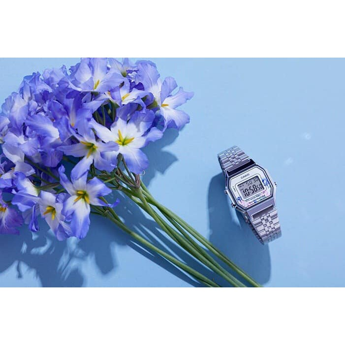 Đồng Hồ Nữ Casio LA680WA-4CDF Chính Hãng - Dây Đeo Kim Loại hình hoa hồng