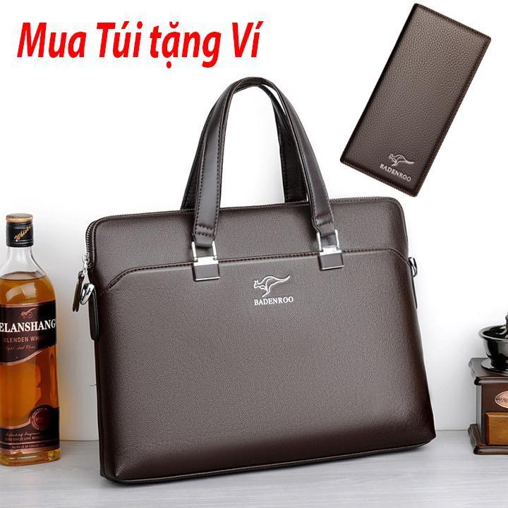 Túi xách nam nữ, túi xách công sở đựng laptop hàng Quảng Châu cao cấp BADENROO chống thấm nước T01