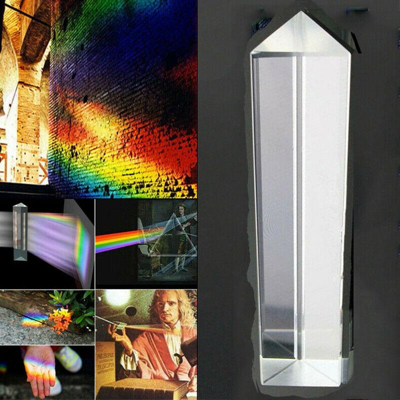 Lăng kính quang học BK7 bằng thủy tinh kích thước 25 * 25 * 80mm dùng để giảng dạy về khúc xạ ánh sáng