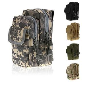Túi vải đeo lưng quần 3 ngăn có nắp đựng điện thoại đồ dùng cá nhân đi làm đi du lịch