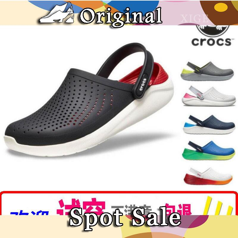 Crocs hole shoes women's shoes kaluochi LiteRide g Luoge men's shoes sandals beach shoes lovers sandals and slippers