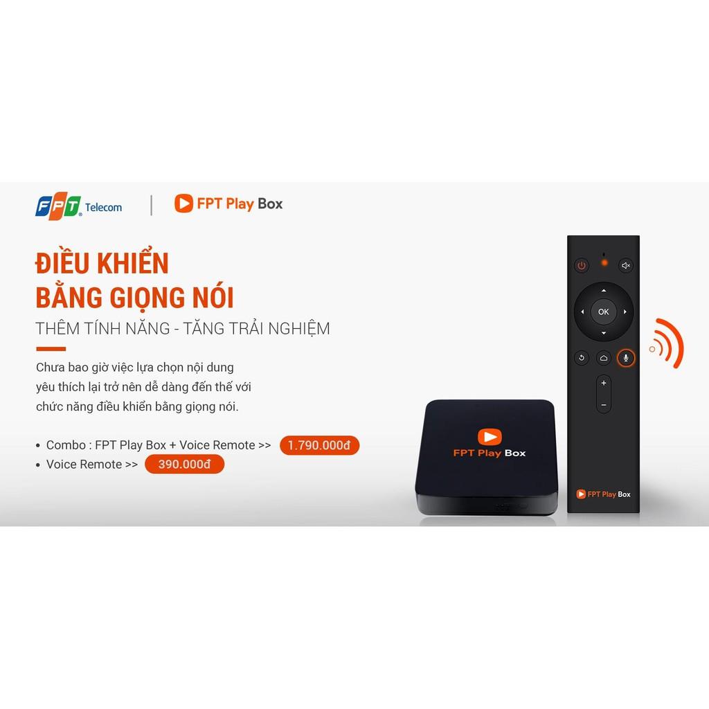 Tivi box FPT. play box 2019 - Model S400 - điều khiển giọng nói - còn nguyên kích hoạt