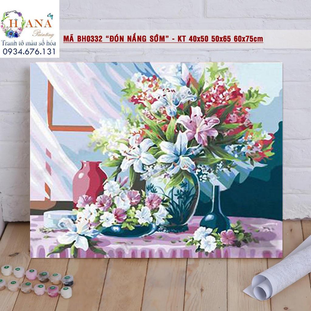 Tranh tô màu theo số DIY - Tranh hoa lan [có khung dày 2,5cm kt40x50cm