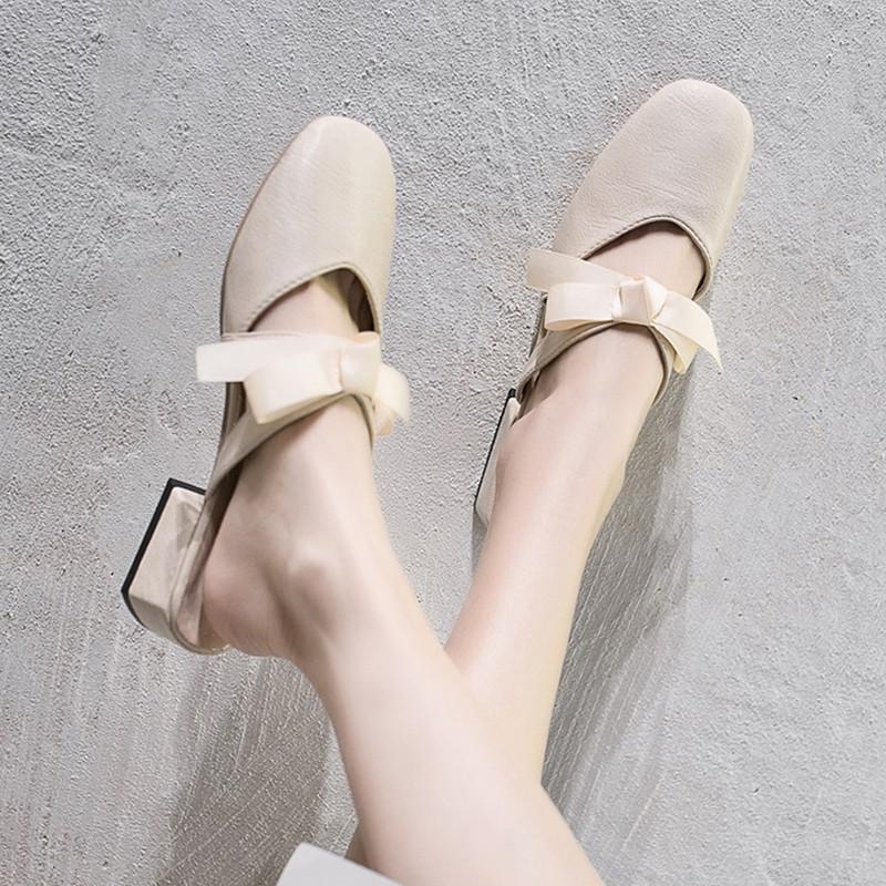 Net red lazy slippers women wear 2019 new summer fashion wild Korean social semi