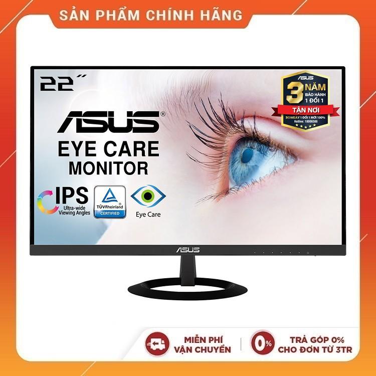 """Màn Hình Siêu Mỏng ASUS VZ229HE 22"""" IPS Full HD Bảo Vệ Mắt, Đen - Hàng Chính Hãng"""