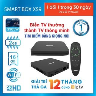 Android Tivi Box 4K Asanzo XS9 (Tìm Kiếm Bằng Giọng Nói) - Chính Hãng