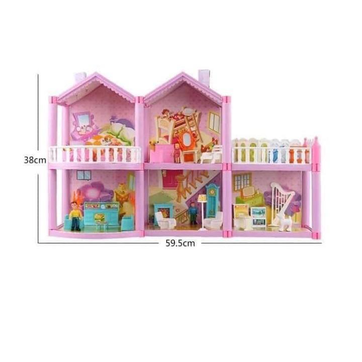 Bộ đồ chơi ngôi nhà gia đình heo Pepa 127 chi tiết và 4 nhân vật