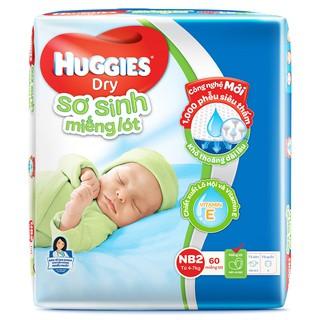 Miếng Lót Sơ Sinh Huggies Dry NB2 - 60 Miếng thumbnail