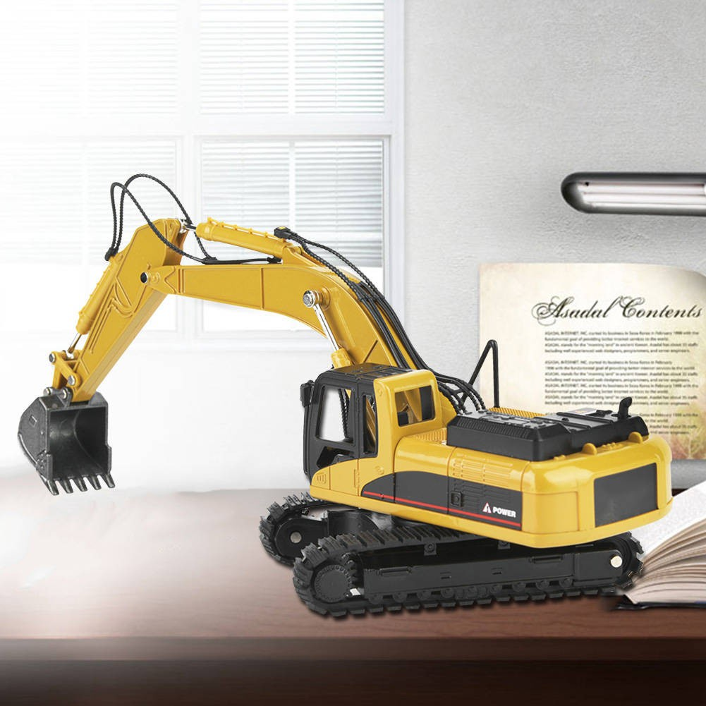[READY STOCK] 1:50 Alloy Excavator Model Engineering Construction High Simulation Car Vehicle Toy