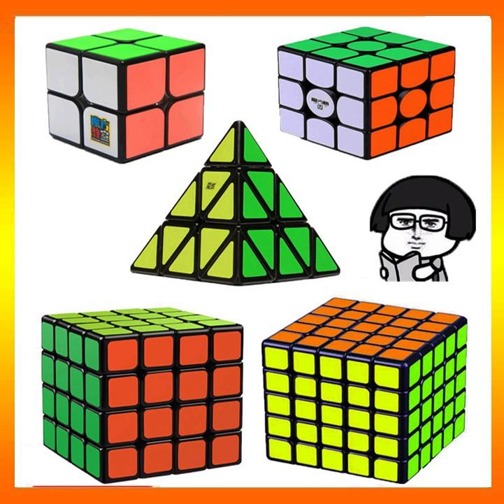 Combo 5 Rubik 2x2 3x3 4x4 5x5 Rubik Tam Giác - Hàng Cao Cấp, Xoay Cực Trơn, Cực Mượt