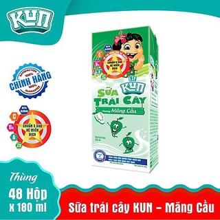 Sữa Trái Cây KUN Mãng Cầu Thùng 48 Hộp x180ml
