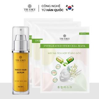 Bộ sản phẩm chăm sóc cá nhân Truesky gồm Serum dưỡng tóc mềm mượt và chắc khỏe 30ml + 3 Mặt nạ dưỡng trắng