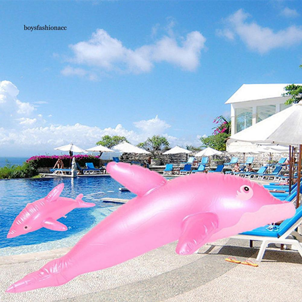 BFA_50cm Dolphin Fish Pattern Inflatable Beach Swimming Pool Party Gift Kids Toy