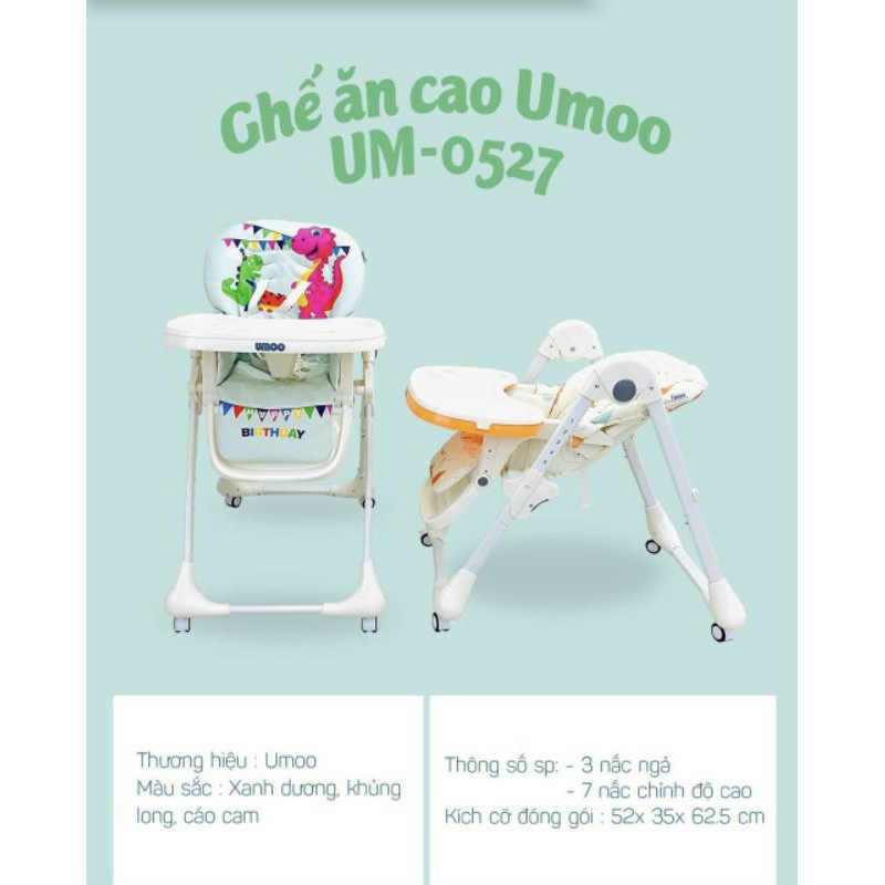 GHẾ ĂN DẶM CAO CẤP UMOO- UM0527