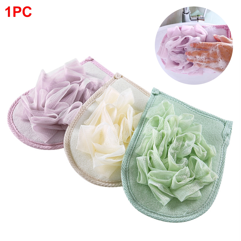 Double-sided Exfoliating Dead Skin Cellulite Durable Useful Women Men Bath Gloves Rub Cloth Remover Home Supplies Shower