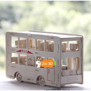 Mô hình lắp ráp gỗ 3D Xe Buýt 2 Tầng