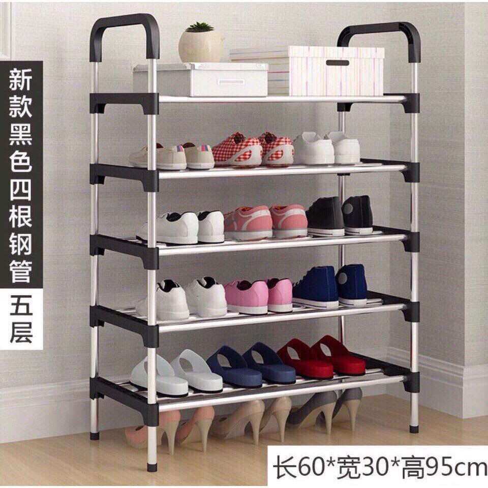 Kệ giầy dép 5 tầng khung Nhôm cao cấp