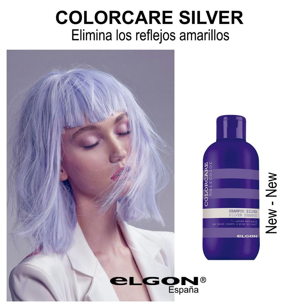 Dầu gội tím Elgon Silver Colorcare Shampoo 300ml khử vàng dành cho tóc bạch kim