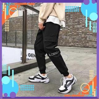 [Form Bao Đẹp] Quần jogger – Quần Jorger Uniex Túi Hộp In Chữ Kèm , Quần Jorger Nam Nữ Siêu Chất .. AF